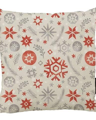 Vánoční polštář s bavlněným povlakem Butter Kings Snowflake Frost,45x45cm