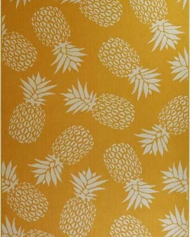 Žlutý venkovní koberec Floorita Ananas, 160 x 230 cm