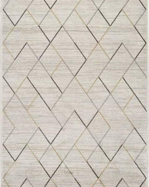 Universal Krémový koberec z viskózy Universal Belga, 100 x 140 cm