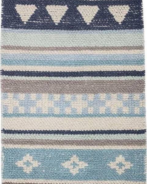 Bloomingville Modro-šedý dětský bavlněný koberec Bloomingville Cool, 60 x 90 cm