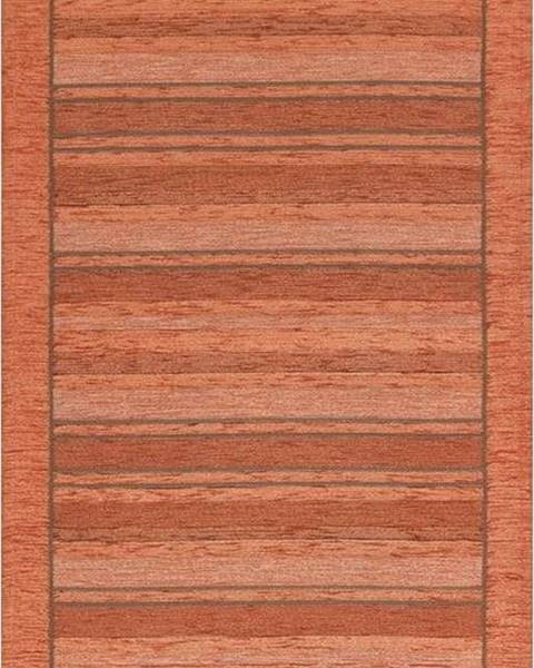 Floorita Oranžový běhoun Floorita Velour, 55 x 115 cm