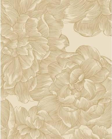 Béžová kuchyňská utěrka z bavlny Södahl Rose, 50x70cm