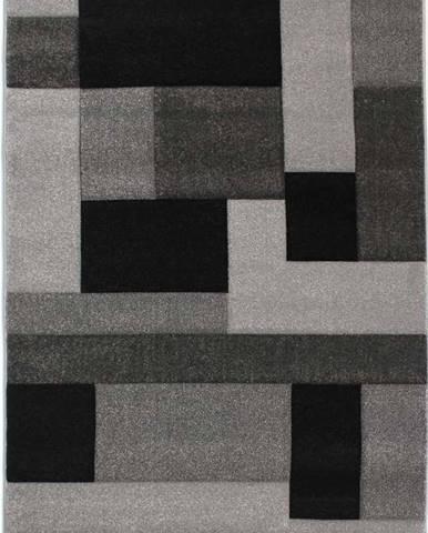 Černo-šedý koberec Flair Rugs Cosmos, 80x150cm