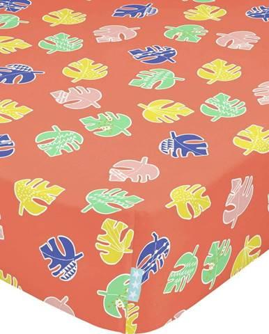 Dětské bavlněné prostěradlo Moshi Moshi Geo Jungle,60x120cm