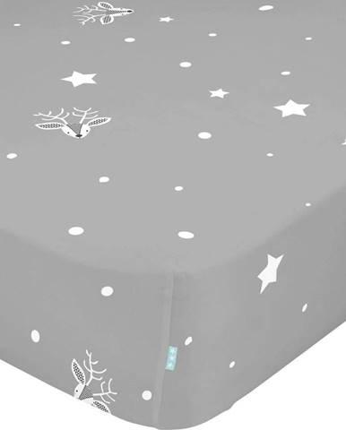 Dětské bavlněné prostěradlo Moshi Moshi Winter,90x200cm
