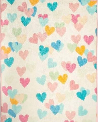Dětský koberec Hearts, 100x160cm