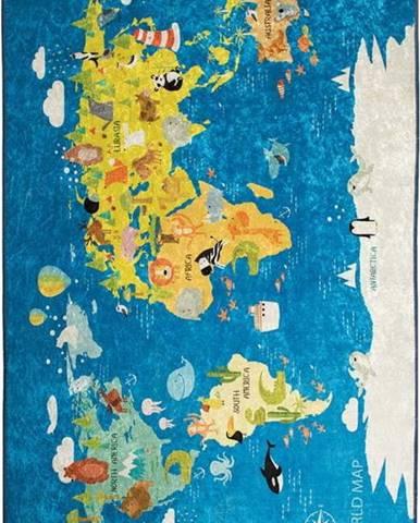 Dětský koberec World Map, 140x190cm