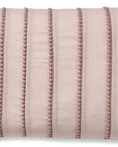 Růžový povlak na polštář Catherine Lansfield Pom Pom, 30x40cm