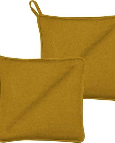 Sada 2 žlutých chňapek z bavlny Södahl