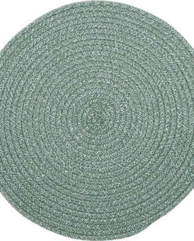 Zelené prostírání s příměsí bavlny Tiseco Home Studio,ø38cm