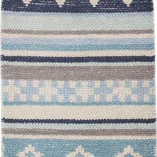 Modro-šedý dětský bavlněný koberec Bloomingville Cool, 60 x 90 cm