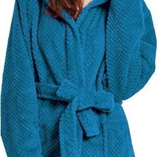 Tmavě modrý unisex župan z mikrovlákna DecoKing Sleepyhead, velikost L