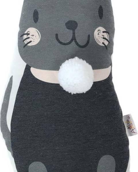 Mike & Co. NEW YORK Dětský polštářek s příměsí bavlny Mike&Co.NEWYORK Pillow Toy Black Cat, 17 x 34 cm
