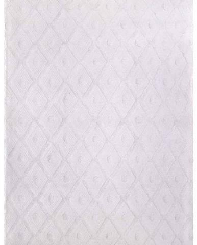 Bílý ručně vyrobený koberec Nattiot Orlando,120x170cm