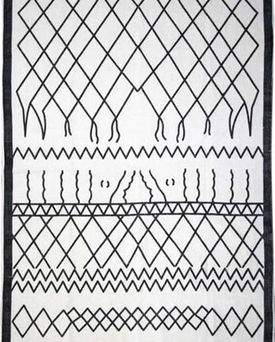 Černobílý bavlněný koberec HSM collection Colorful Living Garrio, 70 x 120 cm