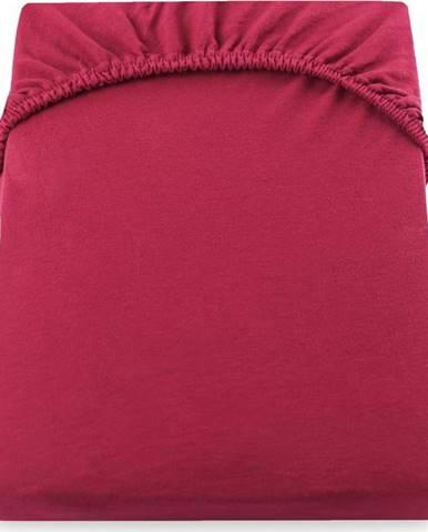 Červené elastické prostěradlo DecoKing Nephrite, 180/200 x 200cm