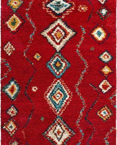 Červený koberec Mint Rugs Geometric, 200x290cm