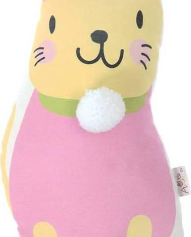 Dětský polštářek s příměsí bavlny Mike&Co.NEWYORK Pillow Toy Kitten, 17 x 34 cm