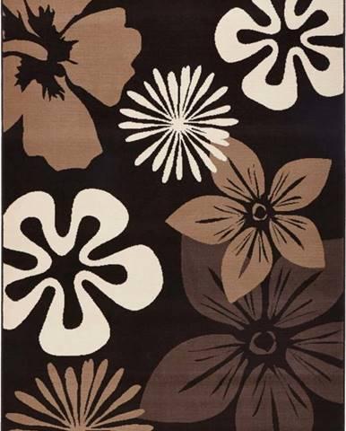 Koberec Hanse Home Gloria Flower Brownie, 80 x 150 cm
