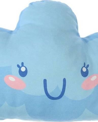 Modrý dětský polštářek s příměsí bavlny Mike&Co.NEWYORK Pillow Toy Hurro, 21 x 40 cm