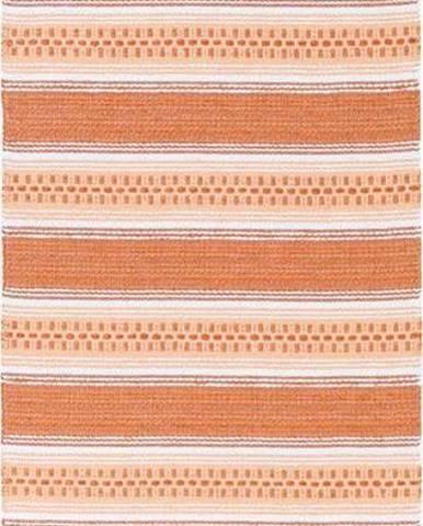 Oranžový běhoun vhodný do exteriéru Narma Runo, 70x250cm