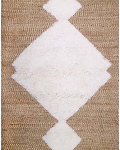Přírodní ručně vyrobený koberec Nattiot Elton,110x170cm