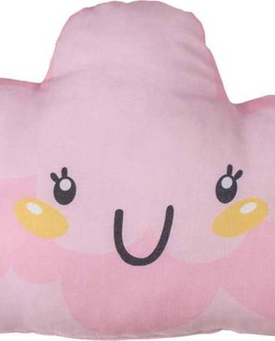 Růžový dětský polštářek s příměsí bavlny Mike&Co.NEWYORK Pillow Toy Hurro, 21 x 40 cm