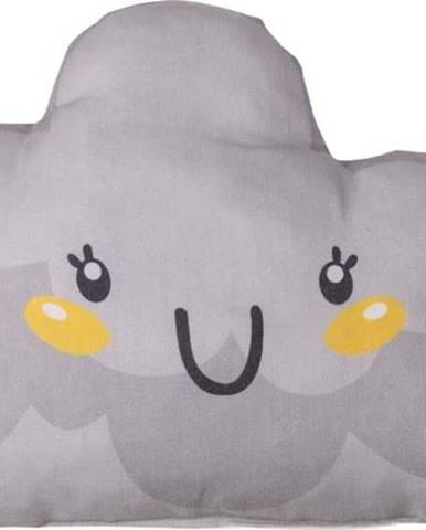Šedý dětský polštářek s příměsí bavlny Mike&Co.NEWYORK Pillow Toy Hurro, 21 x 40 cm