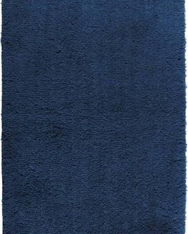 Tmavě modrá koupelnová předložka Wenko Belize, 90x60cm