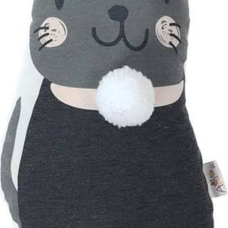 Dětský polštářek s příměsí bavlny Mike&Co.NEWYORK Pillow Toy Black Cat, 17 x 34 cm