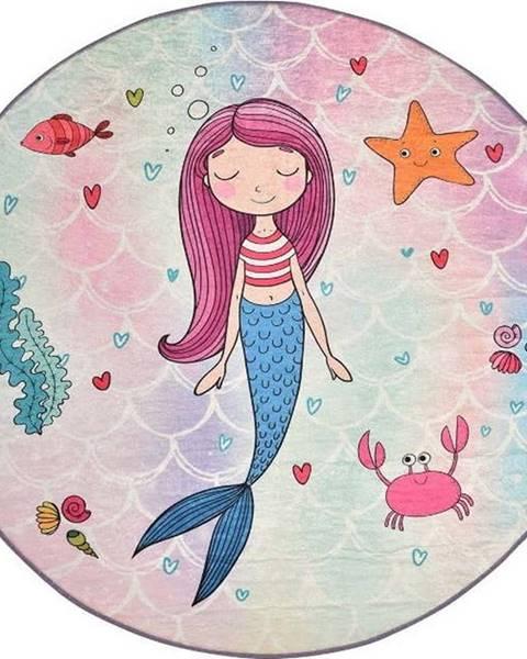 Chilai Dětský protiskluzový koberec Chilai Mermaid,ø140cm