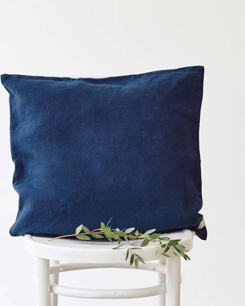 Linen Tales Námořnicky modrý lněný povlak na polštář Linen Tales, 45 x 45 cm