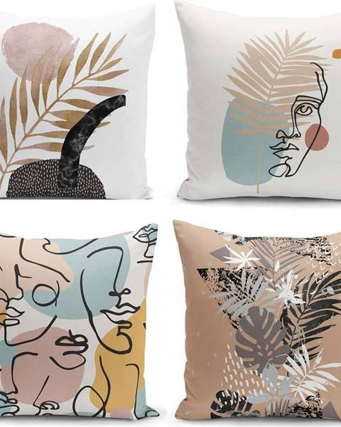 Minimalist Cushion Covers Sada 4 povlaků na polštáře Minimalist Cushion Covers Cesso, 45 x 45 cm