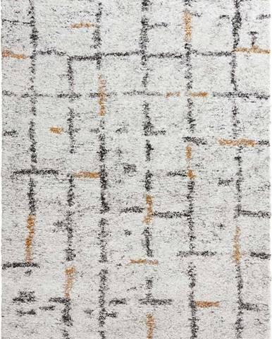Krémový koberec Mint Rugs Grid, 120 x 170 cm