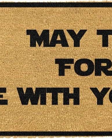 Rohožka z přírodního kokosového vlákna Artsy Doormats May The Force Be With You,40x60cm