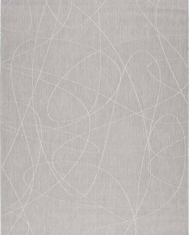 Šedý venkovní koberec Universal Hibis Line, 135 x 190 cm