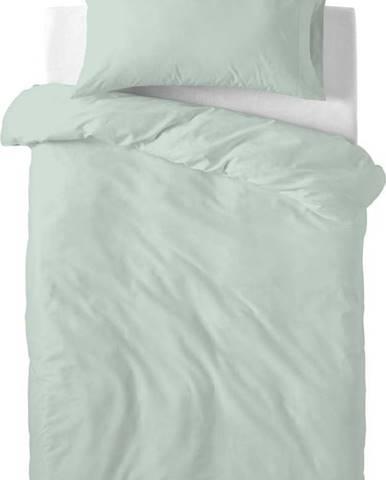 Světle zelené dětské bavlněné povlečení Happy Friday Basic, 100x120cm