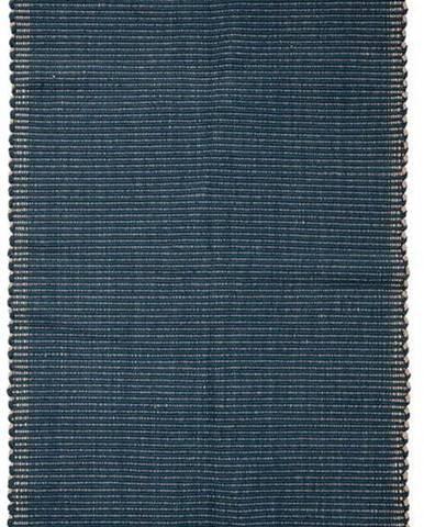 Tmavě modrý bavlněný koberec Bloomingville Kids, 80 x 160 cm