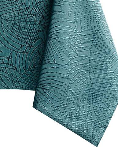 Tyrkysový ubrus AmeliaHome Gaia Marine, 140 x 180 cm