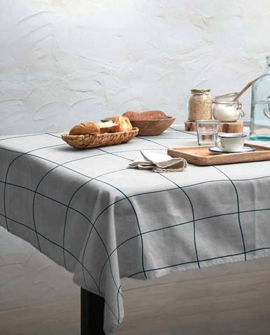 Ubrus Linen Couture Turquoise Lines, 140 x 140 cm