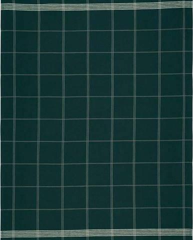 Zelená kuchyňská utěrka z bavlny Södahl Geometric, 50x70cm