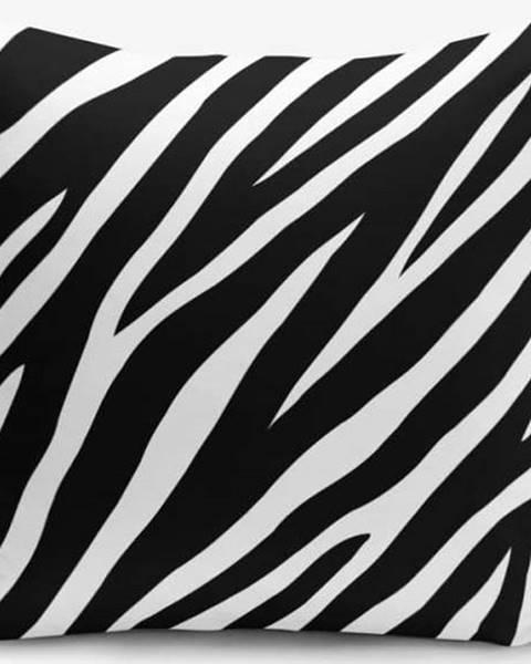 Minimalist Cushion Covers Černo-bílý povlak na polštář s příměsí bavlny Minimalist Cushion Covers Zebra, 45x45cm