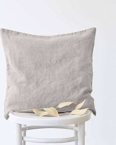 Linen Tales Stříbrošedý lněný povlak na polštář Linen Tales, 45x45cm