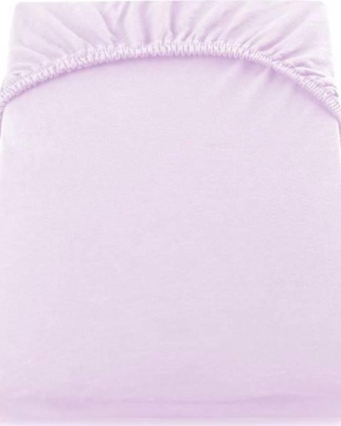 DecoKing Světle fialové elastické džersejové prostěradlo DecoKing Amber Collection, 200/220 x 200 cm