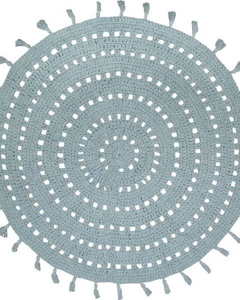 Nattiot Zelený bavlněný ručně vyrobený koberec Nattiot,ø120cm