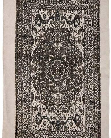 Béžovo-černý koberec Bloomingville Luca,90x150cm