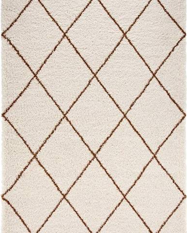 Béžovo-hnědý koberec Mint Rugs Feel, 80 x 150 cm