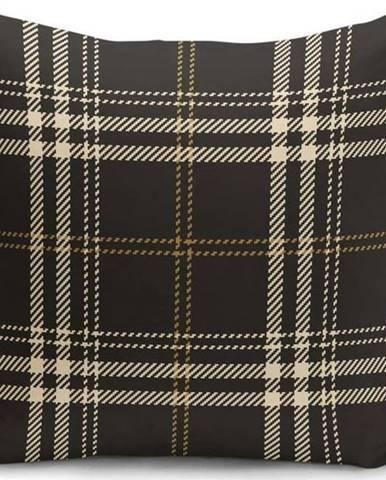 Černo-béžový dekorativní povlak na polštář Minimalist Cushion Covers Flannel,35x55cm