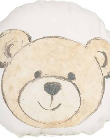 Dětský polštářek s příměsí bavlny Mike&Co.NEWYORK Pillow Toy Bearie, 23 x 23 cm