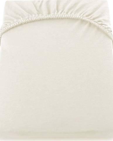 Krémově bílé prostěradlo DecoKing Amber Collection, 160/180 x 200 cm